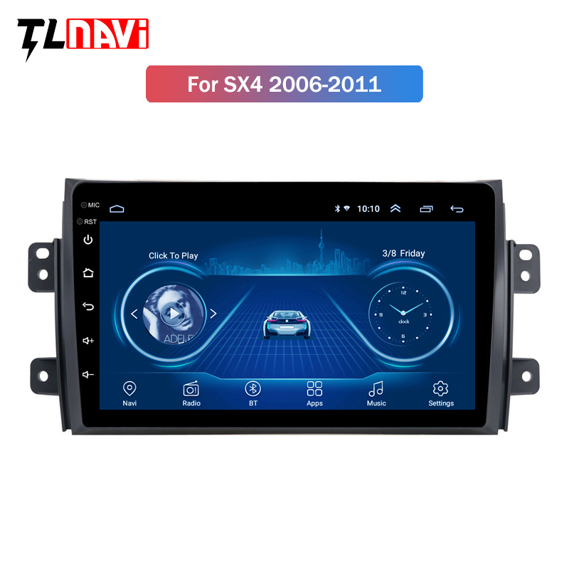 2.5D IPS Screen Car Radio Player For <font><b>Suzuki</b></font> <font><b>SX4</b></font> 2006 2007 <font><b>2008</b></font> -2011 2012 <font><b>Android</b></font> 8.1 Multimedia GPS Navigation Player image