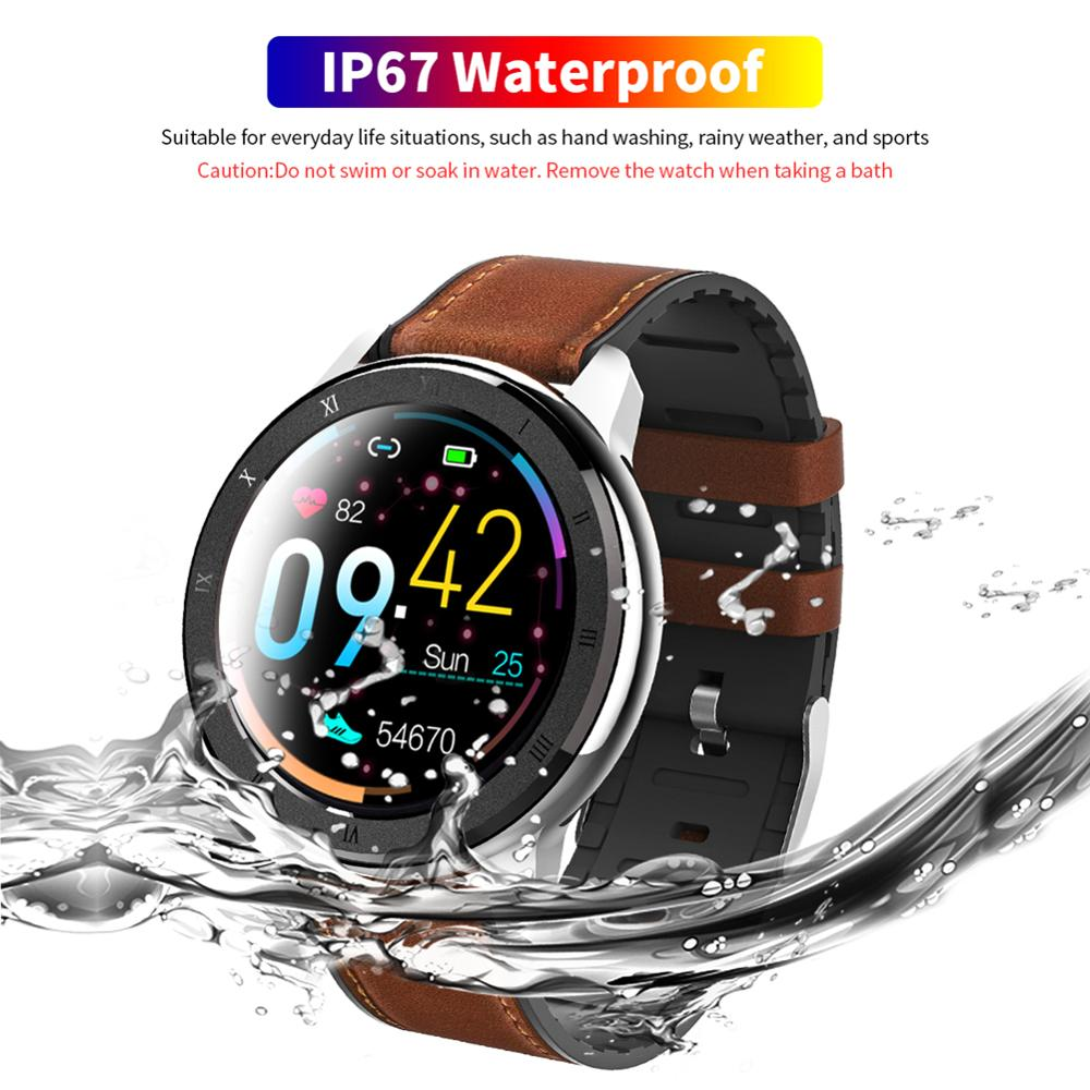ELF2 PPG + ECG Smart Watch 1.3 Inch Full Round Touch Screen 360*360 HD Resolution Stainless Steel Case Strap Replaceable 40DC27