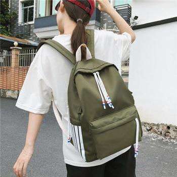 цена 2020 New Preppy Style Students Backpack for Girls Teenage School Bags Women Lightweight Nylon Junior High School Backpack Red онлайн в 2017 году