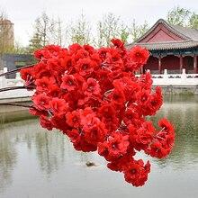120cm Seide Blume Simulation Kirschblüten Zweig Hochzeit Dekoration Künstliche Blumen Verschlüsselt Band Birne Baum Zweig Zweig