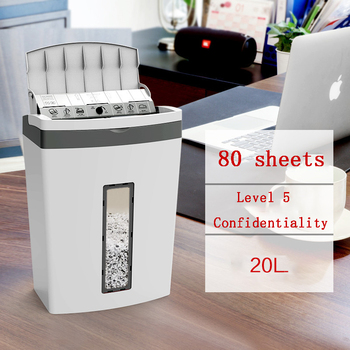 Astronomical 80-sheet Automatic Feed Shredder Mute Confidential Office High-power Electric Shredder 5 Level Confidential 9004 1