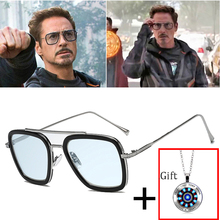 2019 Fashion Avengers Tony Stark Flight 006 Style Sunglasses Men Square Aviation