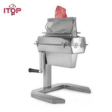 "Купить с кэшбэком ITOP Stainless Steel 5"" Meat Tenderizer With 2 Blades Steaker Chicken Rollers Commercial Meat Processors Kitchen Tools"