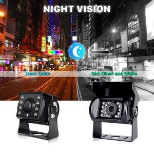 Image 5 - Hd ahd 1280*720p starlight visão noturna 8 led visão traseira do carro reversa câmera de backup ahd com 10m 15m 20m cabo vídeo