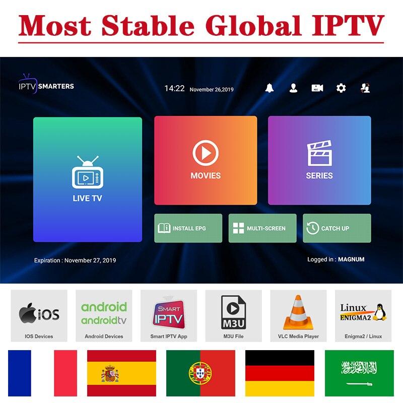Spain IPTV French M3U Subscription Code IPTV France 12 Months Germany Smart IP TV Code Morocco Algeria Qatar IPTV Turkey Sweden