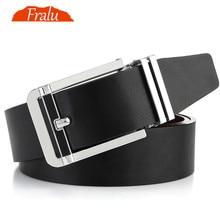 FRALU High quality mens genuine leather belt designer belts men luxury  male belts for men fashion vintage pin buckle for jeans