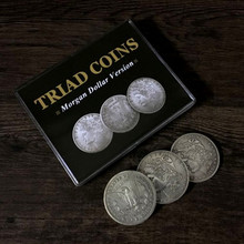 Triad Coins (Morgan Gimmick) By Joshua Jay Coin Magic Tricks Close Up Magic Props Gimmick Coins Vanishing Super Visual Effect