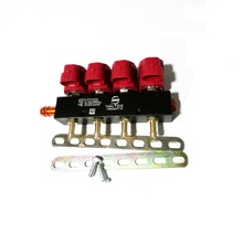 Riel de inyector de alta velocidad CNG LPG, 3 ohmios para sistema de inyección secuencial de 4 cilindros, Riel de inyector común y accesorios