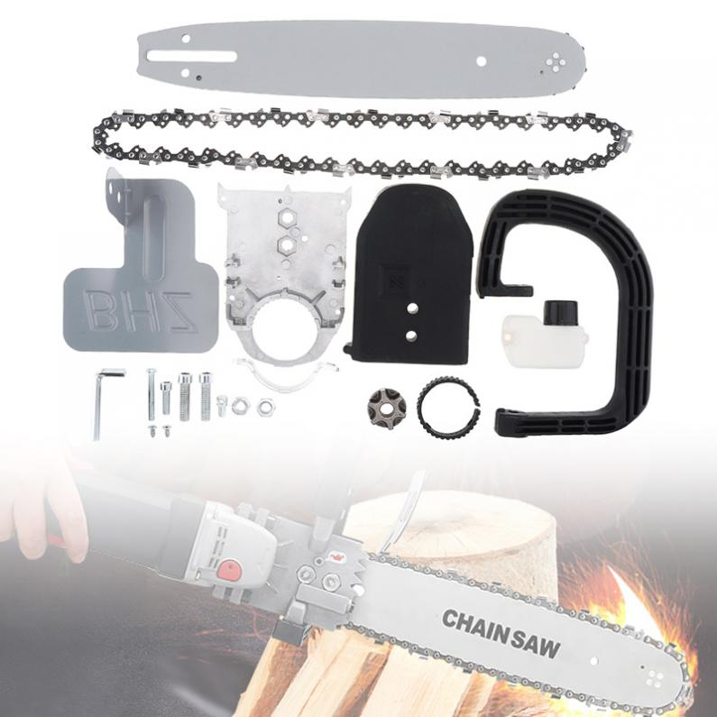 11.5 Inch M10 Upgrade Small Angle Grinder Electric Chain Saw Parts Converter Set Woodworking Tools With Chainsaw Bracket