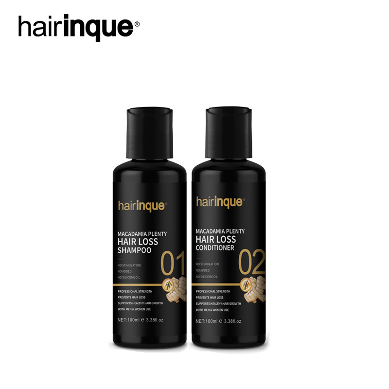 Hairinque Macadamia Plenty Hair Loss Shampoo Conditioner Set Anti Hair Loss Professional Hair Growth Treatment Thicken Hair Care image