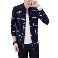 Casual Streetwear Men Winter Sweaters Korean Fashion Clothing Male XXXL Cardigan Male Zipper Fly Knitted Autumn Sweatercoat