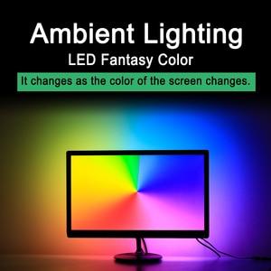Image 2 - USB WS2812B LED Strip light Ambient Monitor Desktop PC Screen Backlight lighting ws2812 Pixel Tape Ribbon 1M~ 5M Kit
