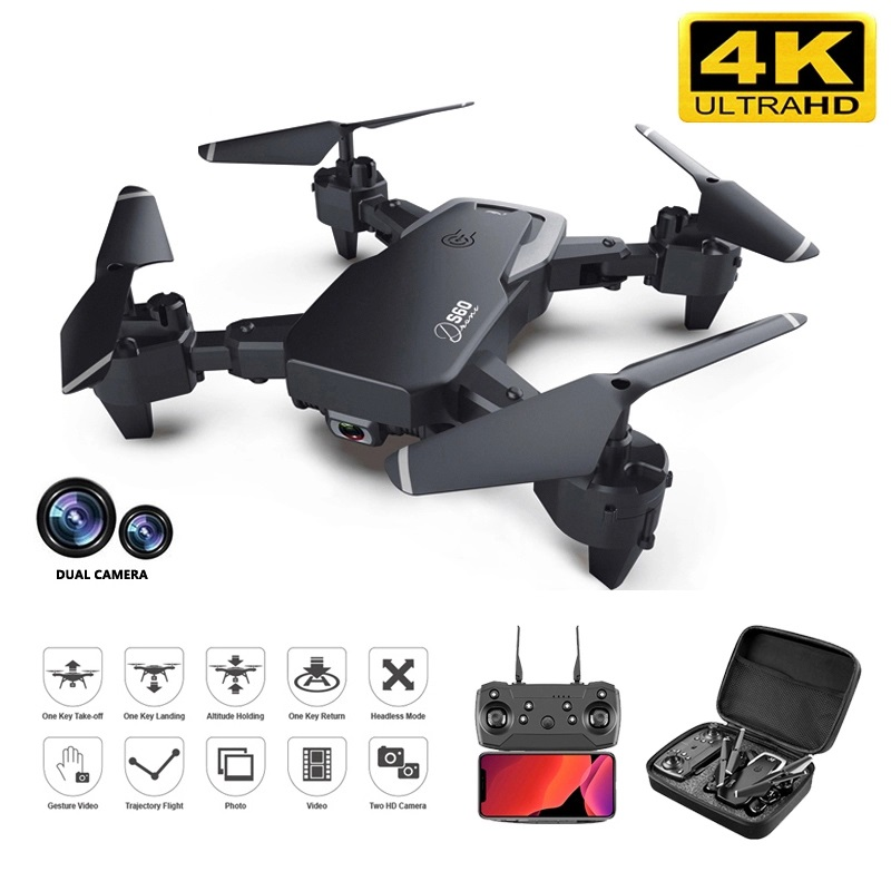 2020 NEW RC Drone 4k HD Wide Angle Camera 1080P WiFi FPV Drone S60 Dual Camera Quadcopter Real-time Transmission Helicopter Toys