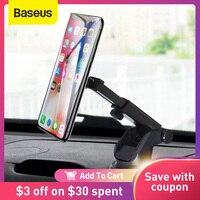 Baseus-Soporte telescópico para teléfono móvil iPhone, ventosa para salpicadero o parabrisas, soporte magnético de montaje para coche