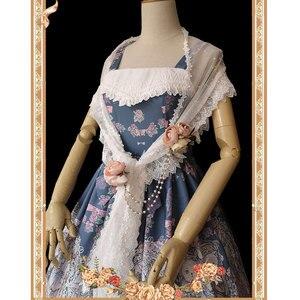 Image 5 - Zoete Witte Lolita Kant Sjaal Lange vrouwen Sjaals door Infanta