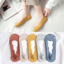 10pair/lot Lace shallow invisible socks ladies summer thin Solid socks Colorful socks summer thin business casual men s silk socks solid color wild men socks 10pair lot good elasticity