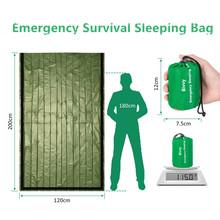 Śpiwór awaryjny-wodoodporny lekki worek termiczny Bivy-torby na koc survivalowy przenośny worek nylonowy Camping piesze wycieczki tanie tanio Koce ratunkowe