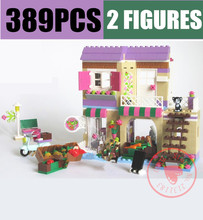 New Food Market House Fit Friends Figures City House Model Building Blocks Bricks Toys for Girl Gift Kid Birthday Christmas Set new playground series fits legoings creators city streetview set house figures model building kit bricks blocks diy gift kid toy