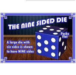 O nove lados dice truques de magia palco close-up adereços truque ilusão comédia grande morrer tem nove lados magia
