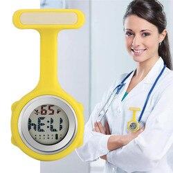 СВЕТОДИОДНЫЙ цифровой дисплей брошь-часы медсестры карманные часы подарки для медсестры доктора