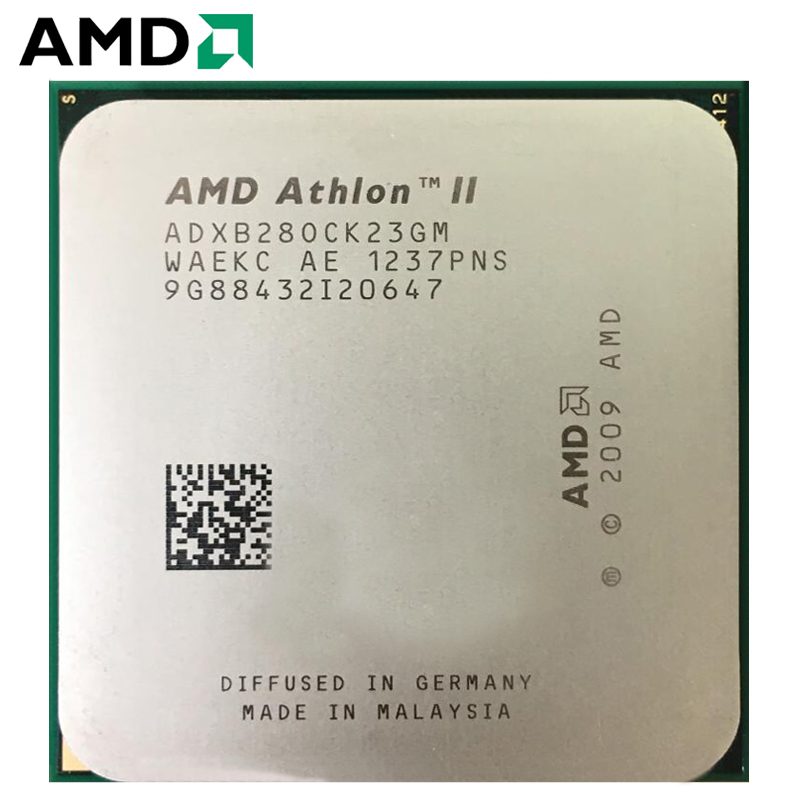 AMD Athlon II X2 B280 XB280 Dual-Core Desktop CPU AM3 938 CPU 100% Working Properly Desktop Processor 65W 3.4GHz Socket AM3