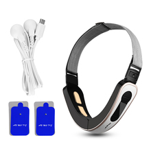 Belt Electrode-Pad Fat-Removal-Band Microcurrent Double-Chin Face-Massager Pulse-Stimulator
