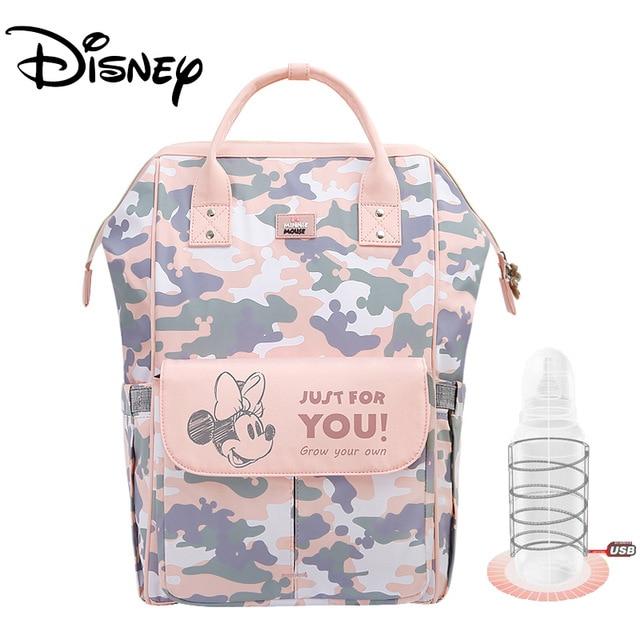 Disney Mickey USB Diaper Bag Organizer Baby Bag Backpack Nappy Bag Large Capacity Mommy Bag For Stroller Black New Design 2020