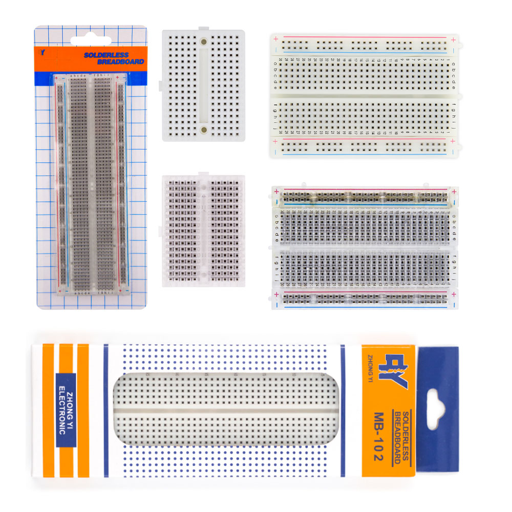 830 Tie Points ZY-201 1pcs Solderless Breadboard