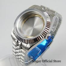 цена на BLIGER 2 Models Top Quality Watch Case + Watch Jubilee Strap Fit ETA 2836 MIYOTA Movement