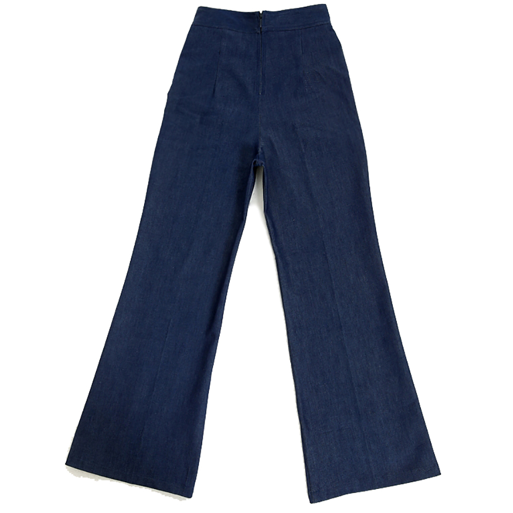 Free Shipping Retro Vintage Style Jeans Women's Trousers Pin Up Rockabilly Xxxl Plus Size Jeans Flare Pants High Waist 50s 60s