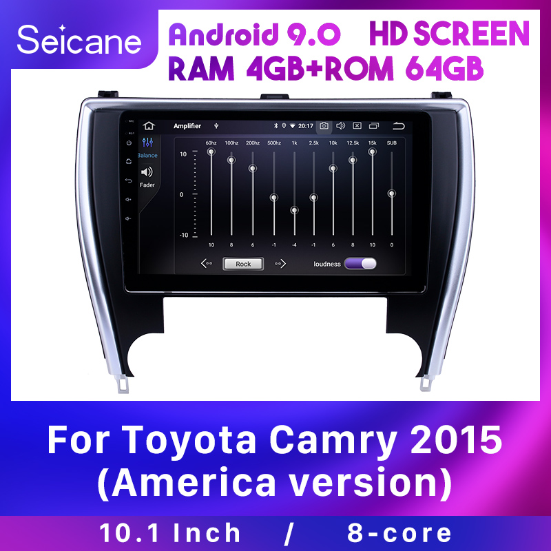 Seicane Car GPS 10.1 Android 9.0 Navigation Auto Radio for Toyota Camry 2015(America version)IPS Carplay support Backup camera image