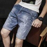 Men's Linen Jeans Men's Summer Thin Tide Loose Casual Shorts 7 Pants Trends Korean