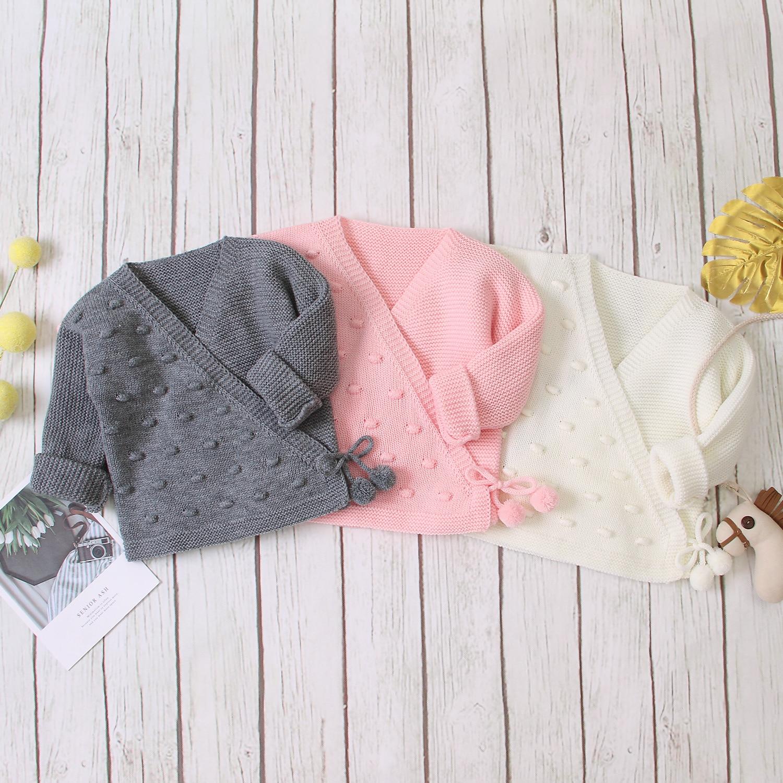citgeett Toddler Baby Girl Boy Knit Cardigan Sweater V Neck Button Up Pullover Sweatshirt Outwear Warm Winter Clothes
