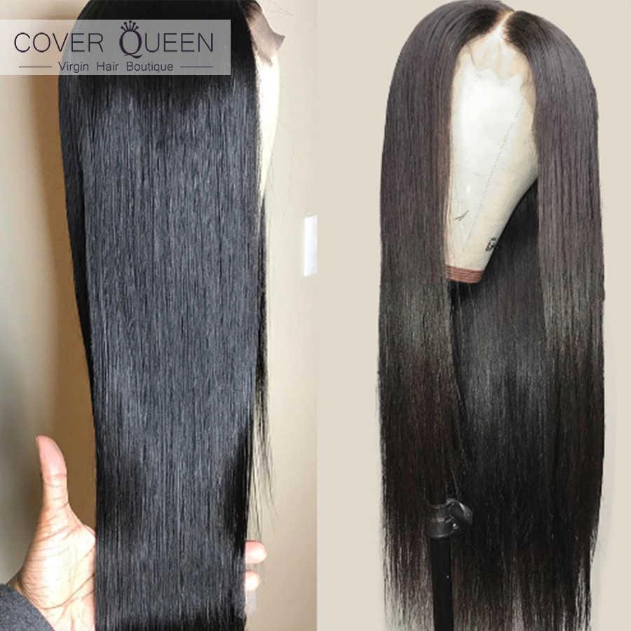 Парики из натуральных волос на кружевном фронте для черных женщин, прямые парики из натуральных волос на кружеве HD, Бразильские короткие парики с длиной 28 дюймов, полные волосы для малышей