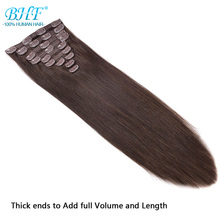 BHF Clip in Human Hair Extensions 10pieces 200g/set and 7pcs/set 100g Remy Human Hair Full Head Natural Clip Ins Extensions