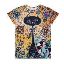 Женская футболка винтажный принт кошки пчелы короткий рукав