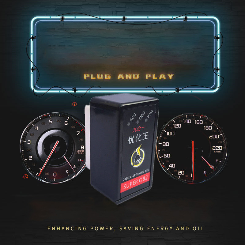 OBDIICAT-HK01 Super OBD2 Nitro OBD EcoOBD2 ECU Chip Tuning Box Plug Car 15% Fuel Save More Power HK24 For Truck dropshipping