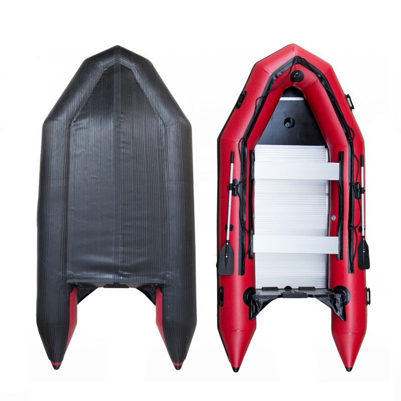 Inflatable Boat With Aluminum Alloy Bottom Rubber Boat Thicken Kayak Fishing Boat Hovercraft Assault Boat