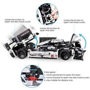 Image 3 - 1586個テクニックスーパースポーツレーシングカービルディングブロックmocリモートコントロールカーレンガセットクリエーターエキスパート子供のおもちゃ子供ギフト