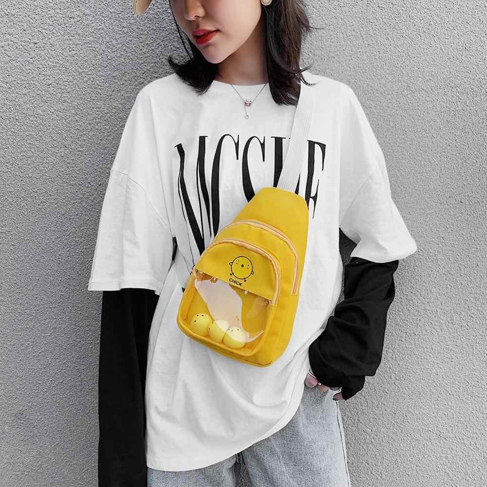 Heißer Verkauf Handtaschen Nicht Leicht zu Beschädigen Kleine Fanny Brust Gürtel Taschen Frauen Cartoon Nette Telefon Zipper Pouch Crossbody Pack einkaufen