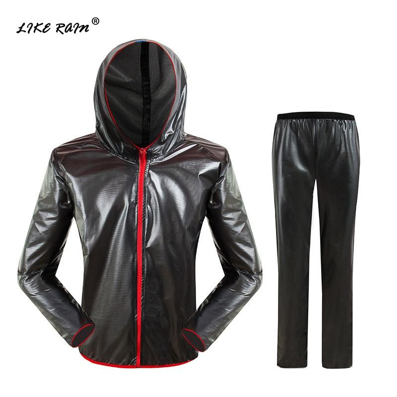LIKE RAIN Waterproof Raincoat Men Outdoor Riding Rain Suit Women Fashion Windproof Rainwear Rain Jacket Motorcycle Raincoat RC01