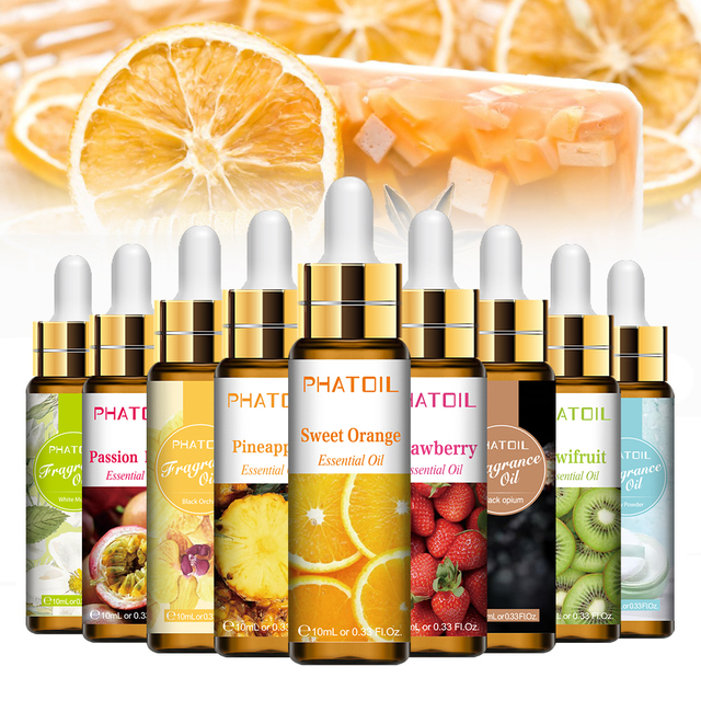 10ml Pure Fruit Flower Aroma Fragrance Oil for Candle Soap Making Strawberry Mango Passion Musk Banana Coconut Oil with Dropper 1