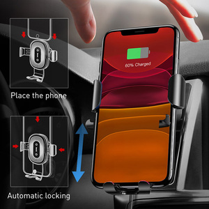 Image 2 - Baseus Wireless Car Phone Holder 10W Fast Charging Stand For Iphone 11 Pro 4.0 6.5 Inch Gravity Auto CD Slot Support Car Mount