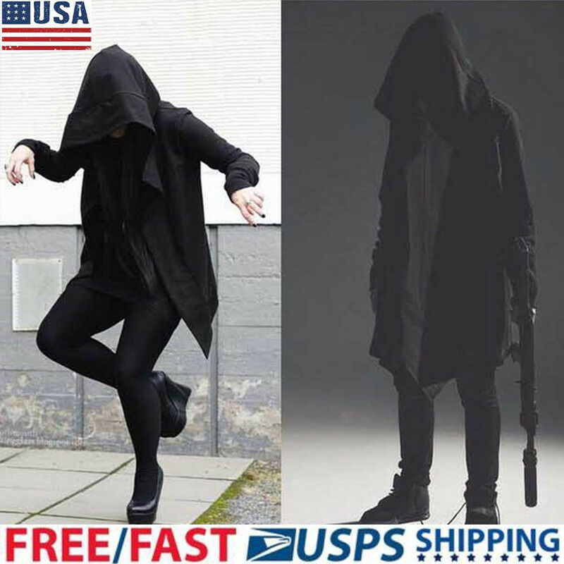 Men Hooded Hoodies Sweater Long Cardigan Cloak Hipster Hip Hop Cape Coat Top