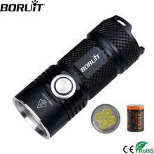 BORUiT BC15 4*XPG3 3000LM Powerful LED Flashlight USB Rechargeable 26350 6-Mode Super Bright Torch for Camping Mountaineering(China)