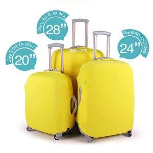 Новейшие чемоданы, защитные чехлы, высококачественные однотонные, подходят для чемоданов 18 ~ 30 дюймов, эластичный Чехол для багажа, 4 цвета