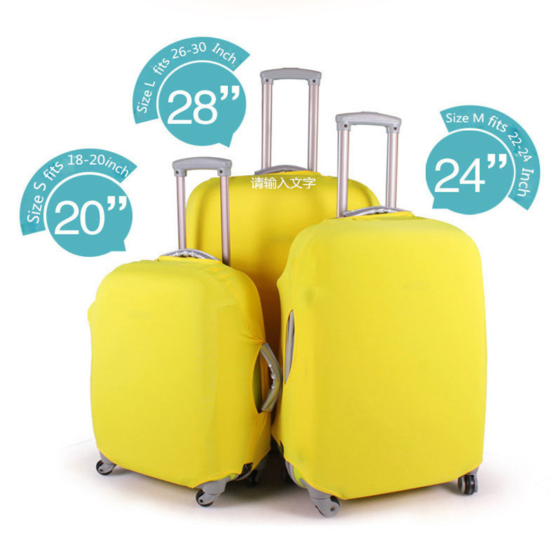 Newest Suitcase Protective Covers High Quality Solid Apply To 18~30 Inch Case,Elastic Luggage Cover Stretch 4 Colors