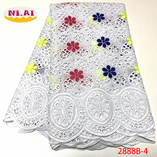 Африканская Хлопковая кружевная ткань NIAI 2020, Высококачественная швейцарская вуаль, кружево в Швейцарии, швейцарская вуаль с вышивкой, кружевная ткань