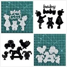 DiyArts Baby Toys Metal Cutting Dies New Born Girl Boy for Craft Die Scrapbooking Embossing Stencil DIY Cut Card Decoration