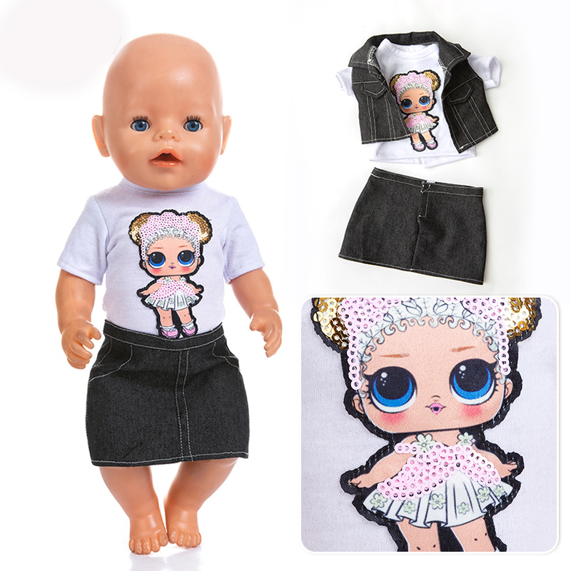 Cowboy Set Clothes Fit For Born  43cm Doll Clothes Doll Accessories For 17inch Baby Doll
